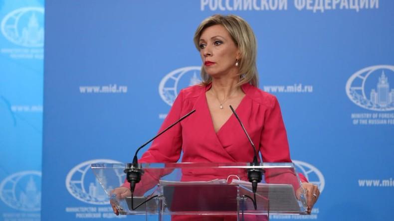 LIVE: Sprecherin des russischen Außenministeriums Maria Sacharowa gibt Pressekonferenz