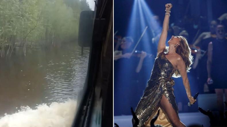 "Russischer Bus mit Passagieren durchquert überfluteten Fluss zu ""Titanic""-Soundtrack (Video)"