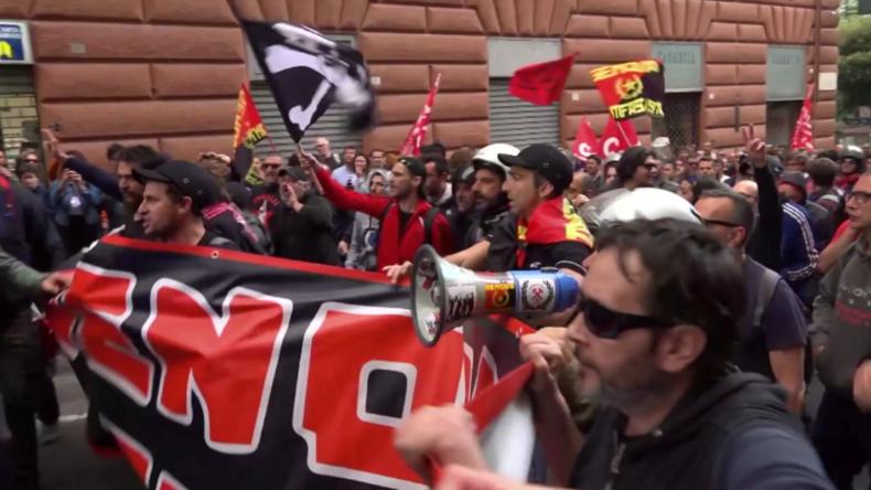 Italien: Zusammenstöße zwischen Polizeiund Antifa bei rechtsextremer Kundgebung in Genua