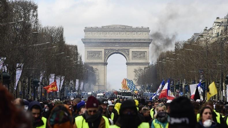 LIVE: Gelbwesten-Protest Akt XXVIII – Demonstration in Paris zum 28. Mal in Folge