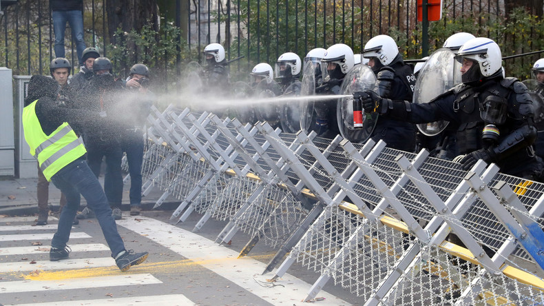 "Video: ""All Europe in Brussels"" - Gelbwesten-Proteste in Brüssel am Tag der EU-Wahl"