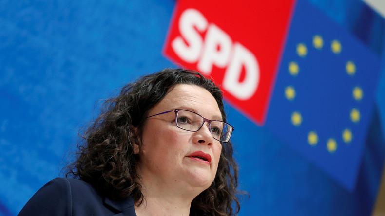 Nach SPD-Wahlverlusten: Andrea Nahles stellt sich zur Neuwahl