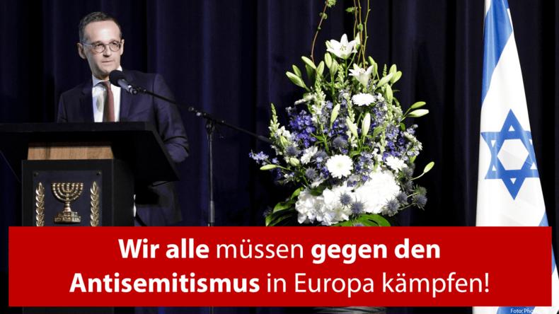 Heiko Maas: Ich trage Kippa, um Gesicht gegen Antisemitismus zu zeigen