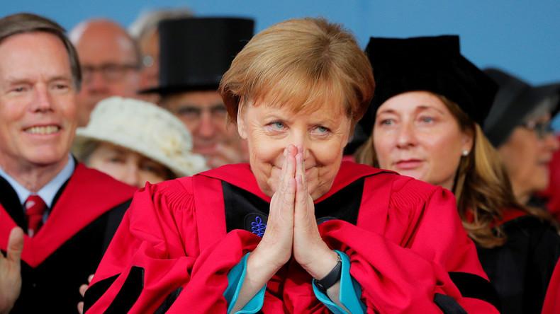 LIVE: Angela Merkel spricht an der Harvard-Universität