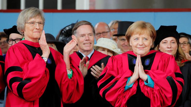 Ausgezeichnet! Merkel für Rede in Harvard geehrt