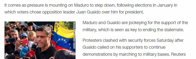 """""""Guaidó erhielt von Wählern den Vorzug"""" – Wie CNN Fake News zu Venezuela verbreitet"""