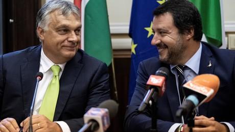 Politiker auf einer Wellenlänge: Ungarns Ministerpräsident Viktor Orbán und Italiens Vize-Ministerpräsident und Innenminister Matteo Salvini. (Bild vom 28.08.2018)