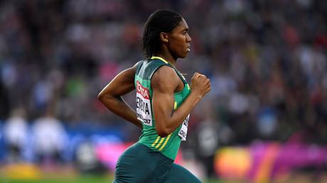 Halbfinale der Damen 800 Meter - London Stadion, London, Großbritannien - 11. August 2017. Caster Semenya aus Südafrika gewinnt den Halbfinallauf.