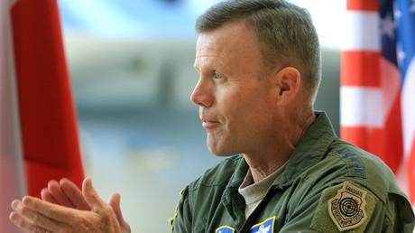 (Archivbild). Tod D. Wolters während einer Übung der baltischen Luftpolizeimission der NATO auf der Siauliai Air Base in Siauliai, Litauen. 30. August 2017.