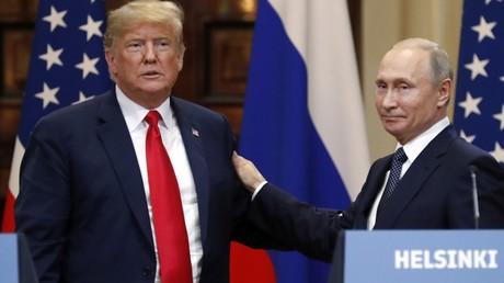 US-Präsident Donald Trump und der russische Präsident Wladimir Putin beim Treffen in Helsinki im Juli 2018