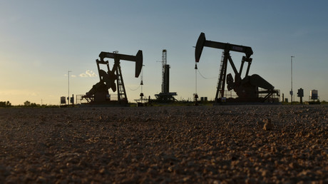 (Symbolbild). Eine Öl-Bohranlage in Midland, Texas U.S. 22. August 2018. Foto vom 22. August 2018.