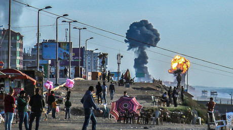 Israelischer Luftangriff auf den Gazastreifen am 4. Mai