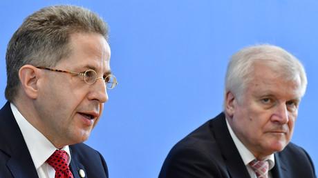 Maaßen gemeinsam mit Bundesinnenminister Horst Seehofer im Juli 2018