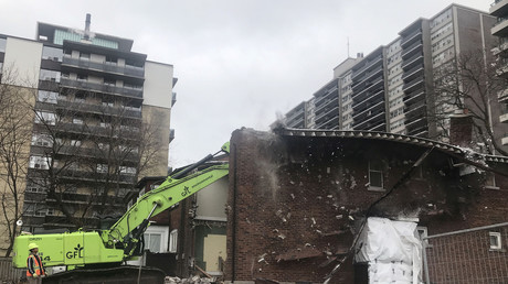 Symbolbild: Abriss eines Hauses in Toronto, Ontario, Kanada, 17. November 2018.