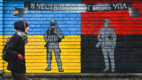 Ultranationalistische Propaganda in Lwow.