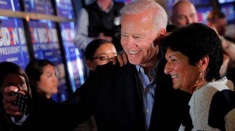 Gibt sich volksnah: Der US-Präsidentschaftskandidat Joe Biden bei einer Wahlkampfveranstaltung in Hampton (13. Mai).