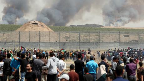 Der 71. Nakba-Tag an der Grenze des Gazastreifens. 15. Mai 2019.
