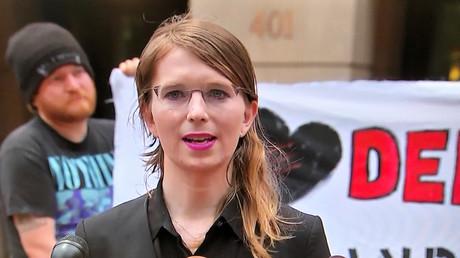 Manning am Donnerstag vor dem Gericht in Alexandria, Virginia