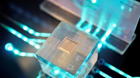 Chip des Halbleiterherstellers HiSilicon von Huawei, China, 21. März 2019.