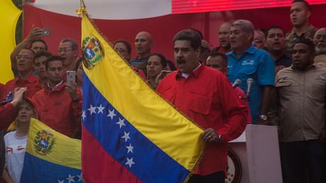 Der Päsident Venezuelas, Nicolás Maduro. Er und seine Unterstützer werden genauso von den USA und den westlichen Massenmedien dämonisiert wie der Präsident Syriens, Baschar al-Assad.