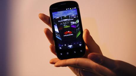 (Archivbild). Ein Handymodel der Firma Huawei.