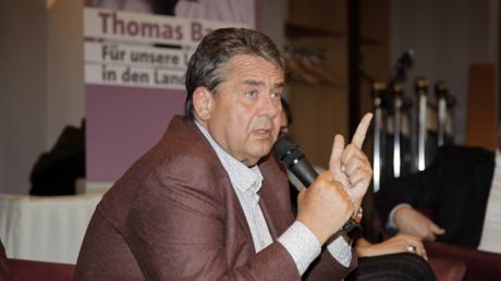 Gabriel im Mai 2019 bei einer SPD-Veranstaltung in Weißwasser