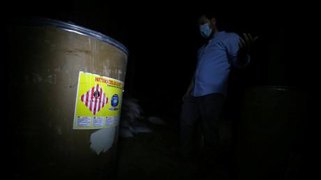Chemikalien in einer ehemaligen Stellung der Rebellen in Duma im April 2018