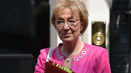 Vorsitzende des britischen Unterhauses, Andrea Leadsom, nach einer Kabinettssitzung am 21. Mai.