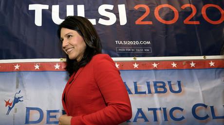 Tulsi Gabbard während einer Wahlkampfveranstaltung in Malibu.