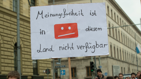 Meinungsfreiheit nicht verfügbar? Protest gegen die Urheberrechtsreform im April 2019 in München