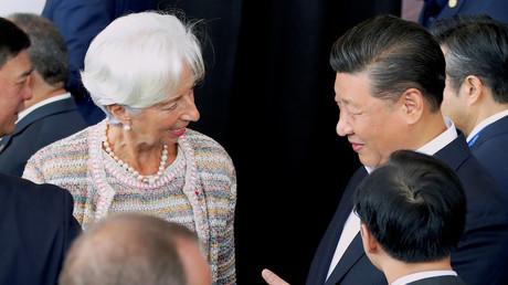 Die Chefin des Internationalen Währungsfonds (IWF) Christine Lagarde und der chinesische Staatschef Xi Jinping beim APEC-Forum in Papua-Neuguinea, 18. November 2018.