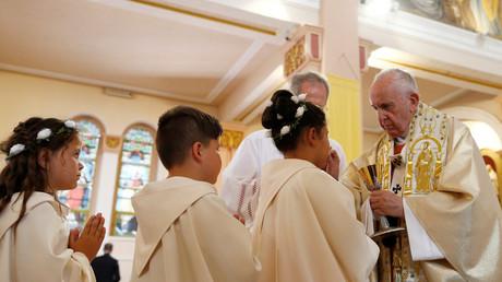 Papst Franziskus bei einer Messe in Rakovski, Bulgarien, 6. Mai 2019.