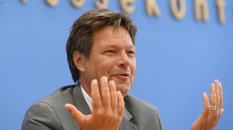 Robert Habeck nach der EU-Wahl in Berlin, Deutschland, 27. Mai 2019