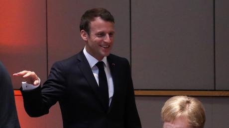 Der französische Präsident Emmanuel Macron und die deutsche Bundeskanzlerin Angela Merkel in Brüssel, Belgien, 28. Mai 2019