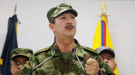 General Nicacio Martinez, während einer Pressekonferenz in Bogota, Kolumbien, 20. Mai 2019.