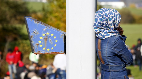 Eine Migrantin an der österreichisch-deutschen Grenze (Archivbild: 2015)