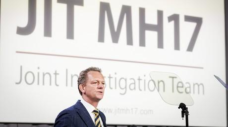 Chefermittler Fred Westerbeke präsentierte am 24. Mai 2018 den JIT-Abschlussbericht, der die Schuld für den Abschuss von MH17 bei Russland sieht.
