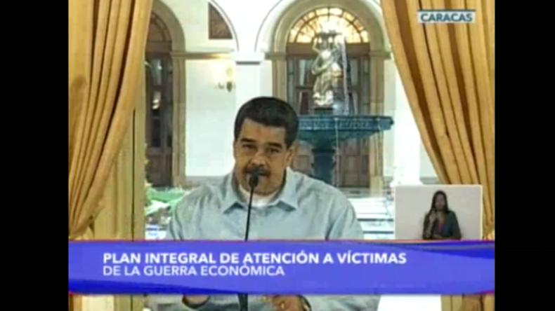 Maduro fordert von Opposition und USA Aufhebung der Sanktionen zum Wohle Schwerkranker
