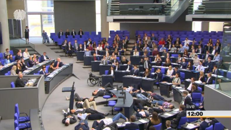 """""""Klimatote"""" während Rede von Schäuble im Bundestag: """"Ihr könnt da ruhig bis morgen liegen bleiben"""""""