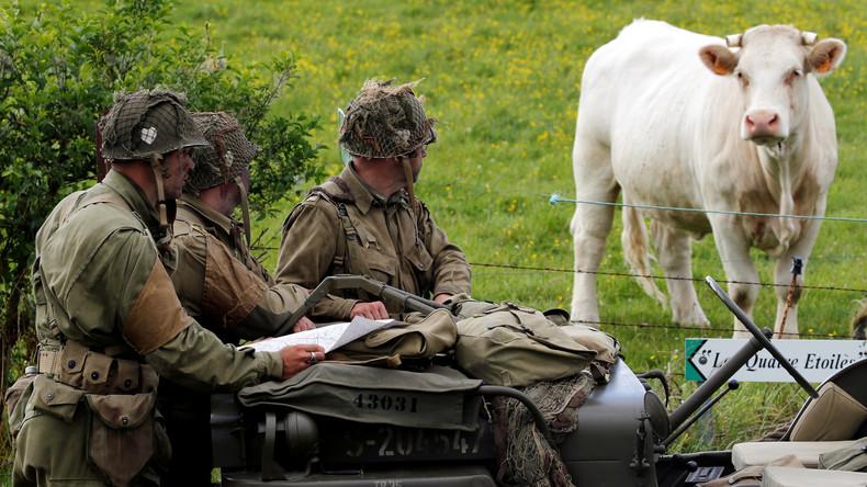 LIVE: US-Rangers stellen die Landung in der Normandie am D-Day nach