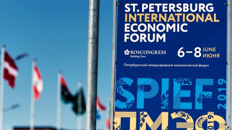 Ankündigung: Sonderberichterstattung  vom Internationalen Wirtschaftsforum in Sankt Petersburg