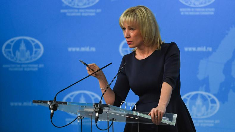 """Maria Sacharowa über angebliche Bedrohungen der Deutschen Welle in Russland: """"Hört auf zu lügen!"""""""