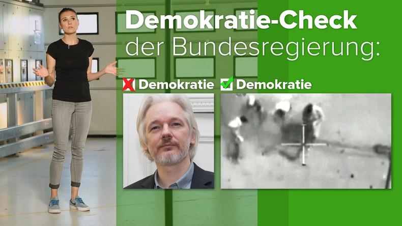 Demokratische Werte und das Schweigen der Bundesregierung zum Fall Assange (Video)