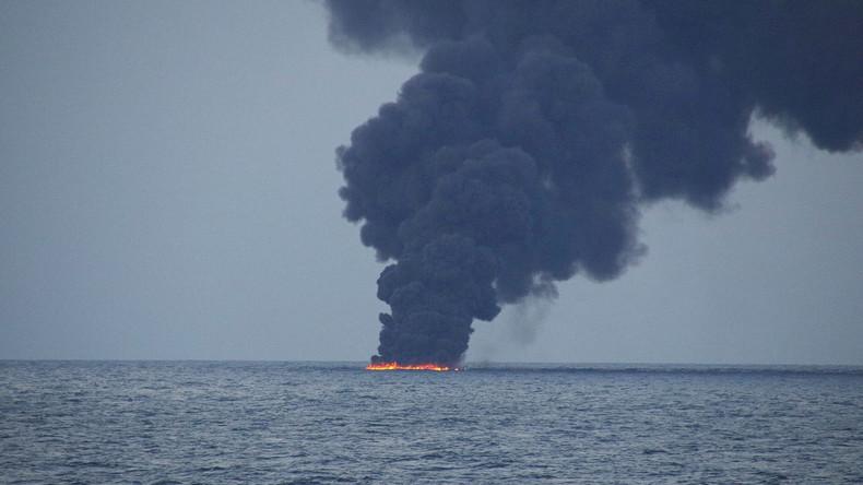 Golf von Oman: Öltanker in Flammen