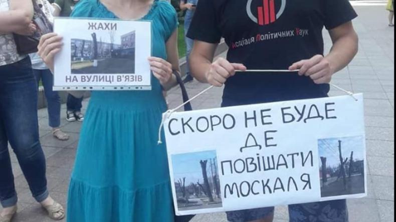 Soll das ein Witz sein? Plakat eines ukrainischen Journalisten sorgt für Empörung