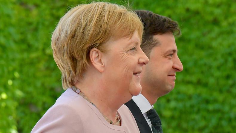 """""""Kann dem Präsidenten eine glückliche Hand wünschen"""": Kanzlerin Merkel empfängt Selenskij in Berlin"""