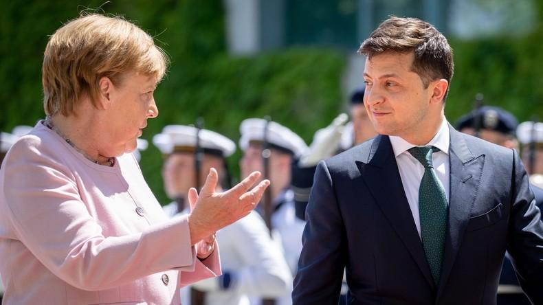 LIVE: Kanzlerin Merkel und der ukrainische Präsident Selenskij halten Pressekonferenz in Berlin