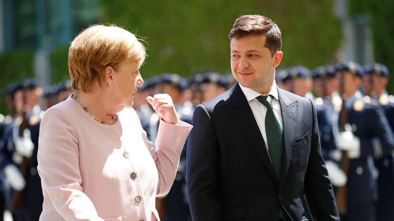 Merkel empfängt den neuen ukrainischen Präsidenten: Die Rhetorik bleibt gleich (Video)