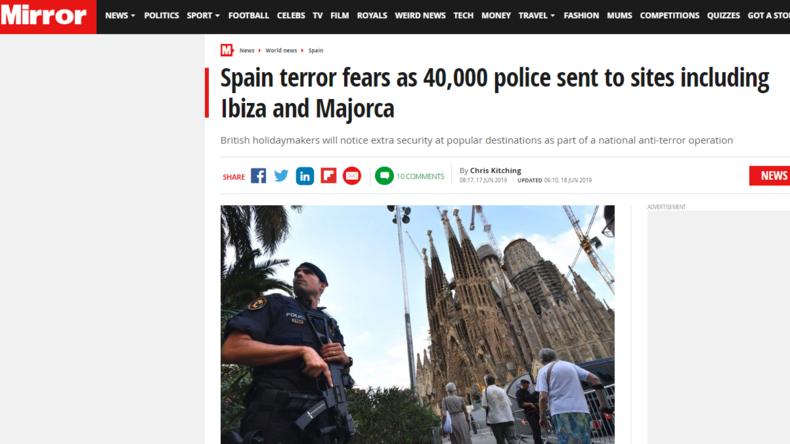 Britische Medien verbreiten Fake News über angebliche Terrorwarnungen auf Mallorca
