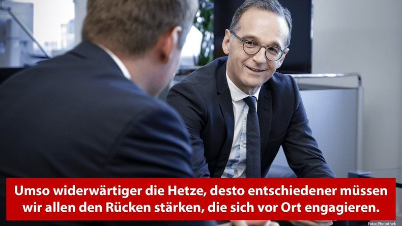 Heiko Maas fordert Proteste gegen Rechtsextremismus